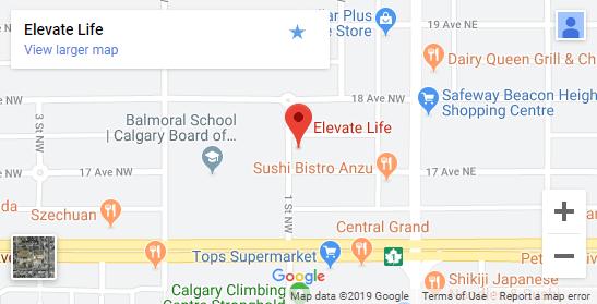 Chiropractic Calgary AB Map